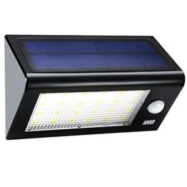 Amir Garten Solarleuchten, Wireless Wetterfeste Sicherheits Licht/ solarleuchten mit bewegungsmelder aussen mit 24 LED für Garten, im Freien, Zaun, Terrasse, Haus, Auffahrt, Treppen, Außenwand usw. -
