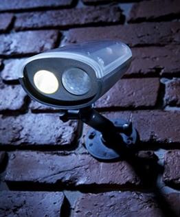 Auraglow Drahtloser Superhelles Sicherheitslicht mit PIR Bewegungssensor, Wetterfest, Solarbetrieben Sicherheit Licht -