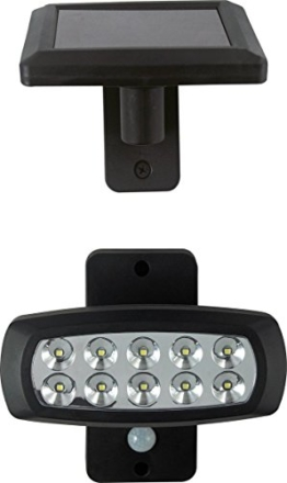 LED Solarleuchte Solarlampe Außenleuchte 504637 Beleuchtung Bewegungsmelder Lampe schwarz Solar Garten -