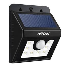 Mpow Solarleuchte 8 LED Solarlampe Sicherheits-, Bewegungs Licht Sensor mit 3 Intelligenten Modi -