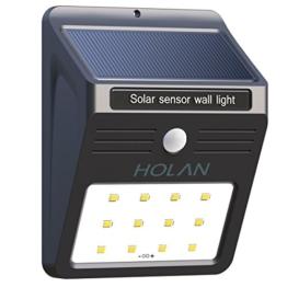 Solarleuchte mit Bewegungsmelder, Soft Digits 12 LED Solar Wandleuchte / Bewegungssensor Solarlampe / Solar Außenleuchte mit 2 Intelligenten Modi / Wetterfeste / Auto On und Off für Patio, Plattform, Hof, Garten, Weg -