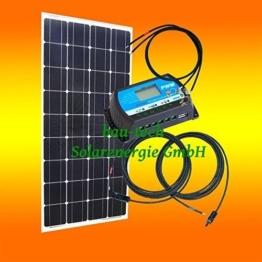 100Watt 12Volt Inselanlage, Solar Bausatz, Basis Set für Garten Camping von bau-tech Solarenergie GmbH -