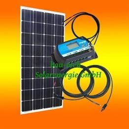 130Watt 12Volt Inselanlage, Solar Bausatz, Basis Set für Garten Camping von bau-tech Solarenergie GmbH -