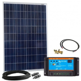 Offgridtec Solar Bausatz 100 wp - 12 V Solaranlage, Solarmodul und Victron Blue Solar 10A PWM Solarladregler, 002640 -